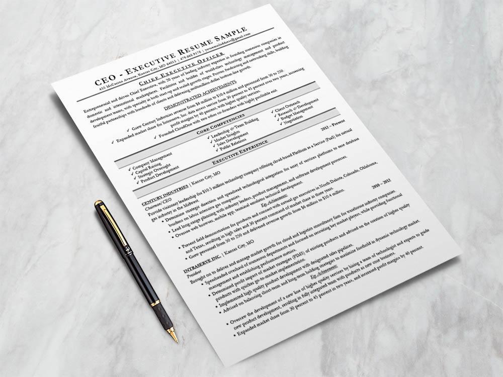 Free Executive Resume Template (CEO, CIO, CTO)