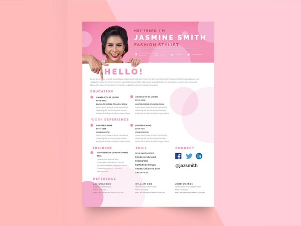 Free Fashion Stylist Resume Template