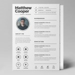 Clean PSD Resume Template