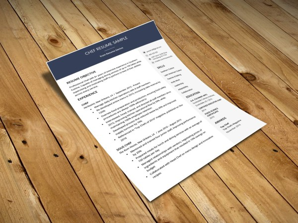 Free Chef Resume Template