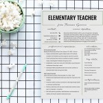 Elementary Teacher CV Resume