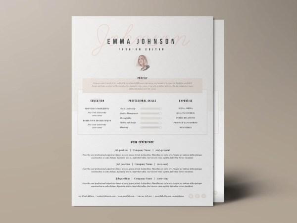 Free Resume Template- Champs-Élysées