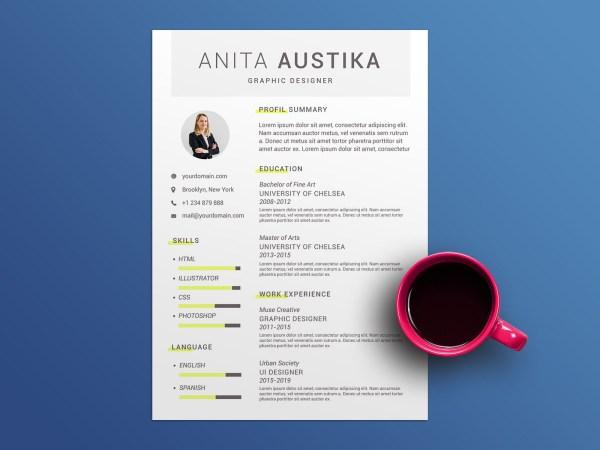 Austika Free Resume Template