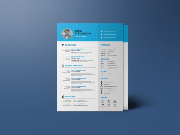 Free Modern Corporate Resume Template