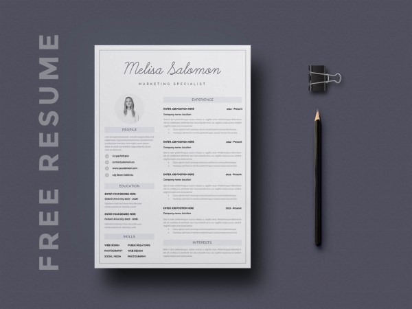 Free Resume Template - Melbourne