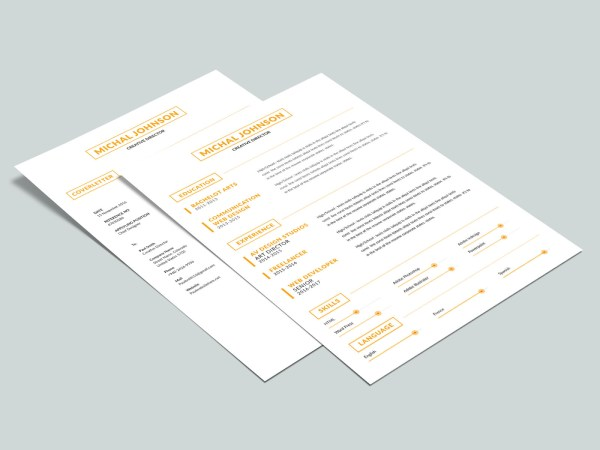 Free Simple Two Pages Resume Template