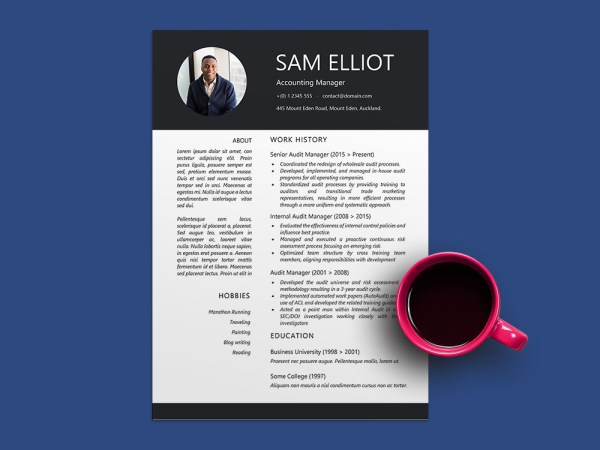 Free Audit Manager Resume Template with Sample Text