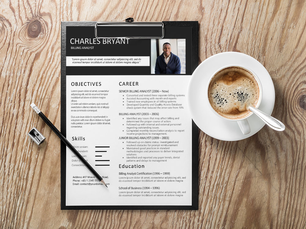 Free Billing Analyst Resume Template with Sample Text