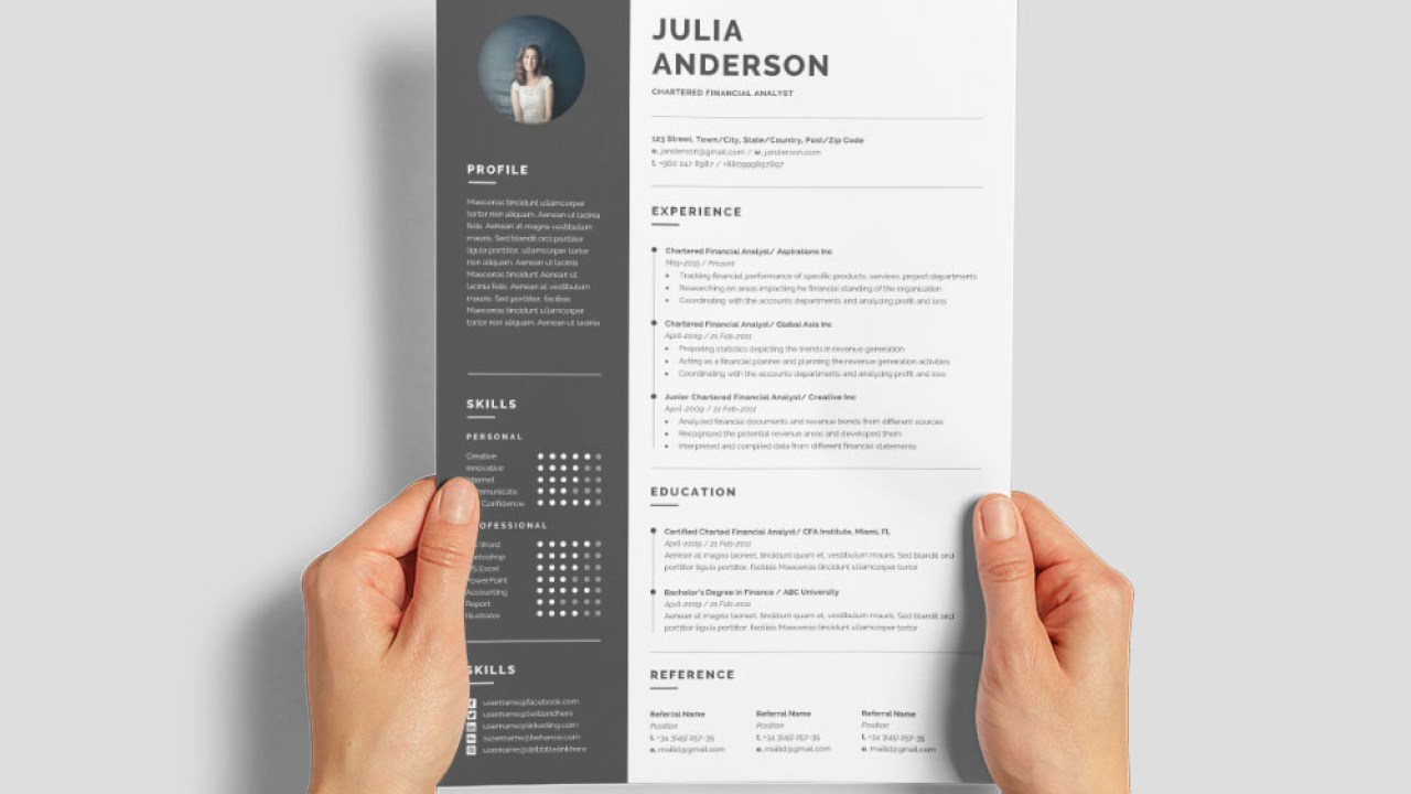 · analysing financial data to draw conclusions and produce forecasts. Free Chartered Financial Analyst Resume Template With Example