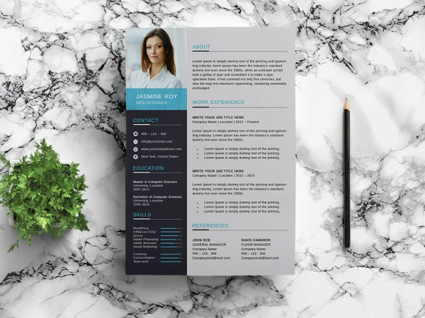Free Clean Fresh Resume Template
