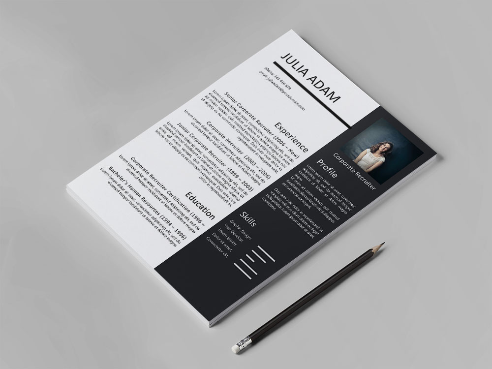 Free Corporate Recruiter Resume Template with Sample Text