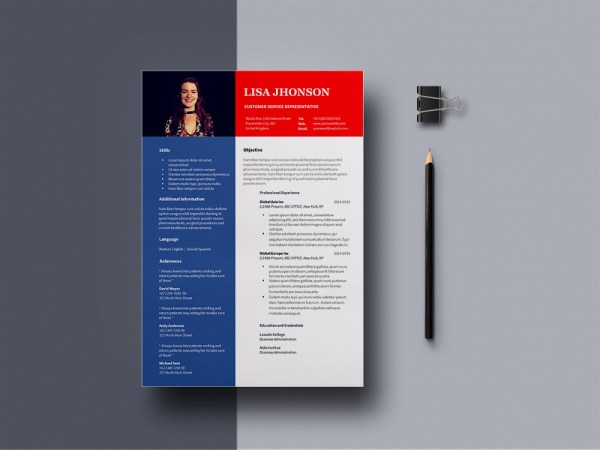 Free Customer Service Representative Resume Template for Job Seeker