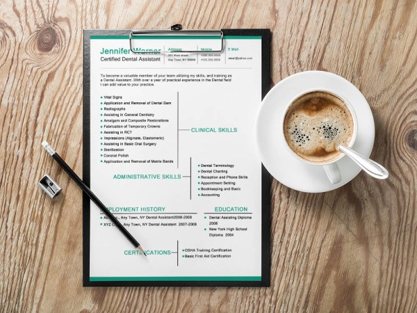 Free Dental Resume Template