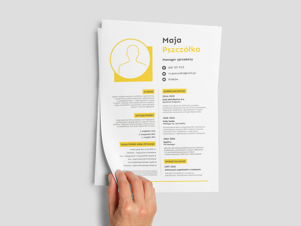 Free General Office Resume Template with Clean Look