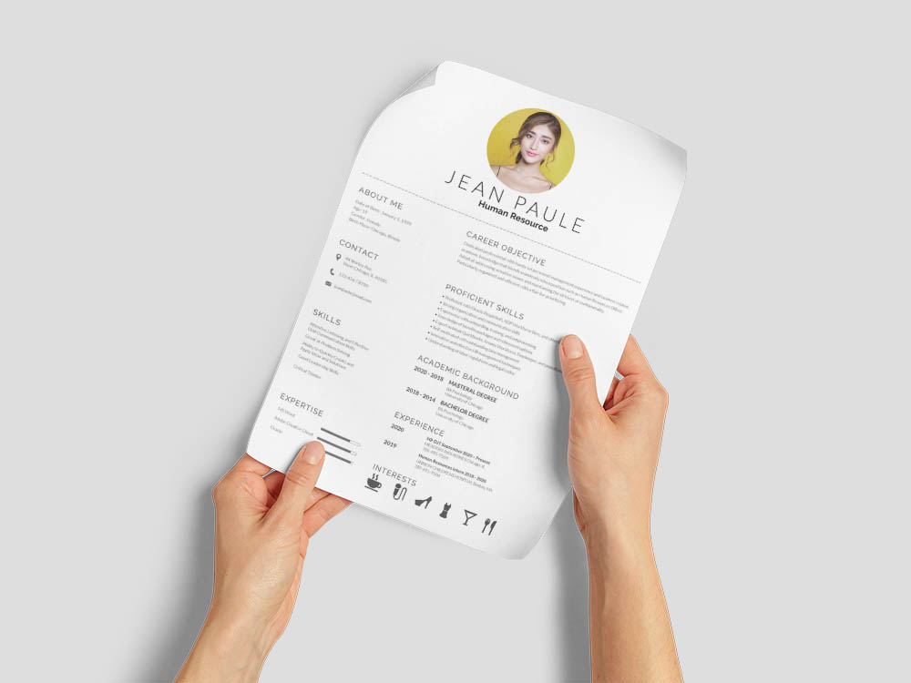 Free Human Resource Fresher Resume Template