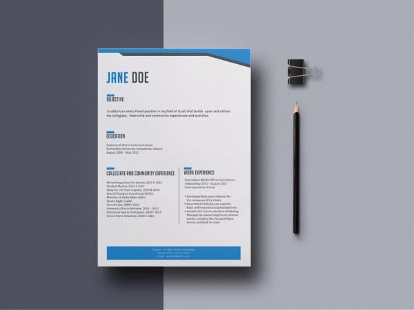 Free Intern Resume Template
