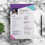One Page Resume Template for Experienced