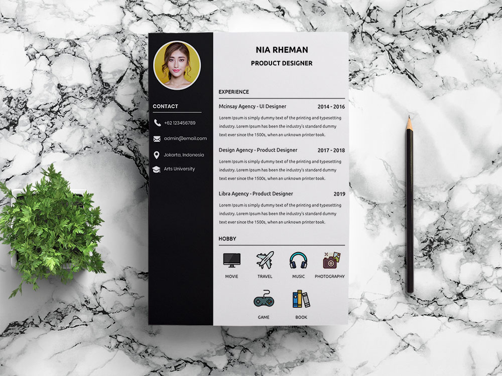 Free Product Designer Resume Template with Clean Look
