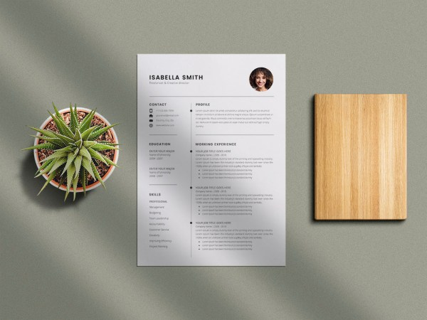 Free Simple 3 Pages Resume Template