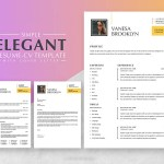 Elegant Resume with Cover Letter Page