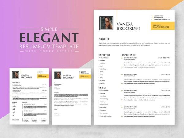 Free Elegant Resume + Cover Letter