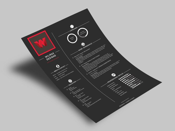 Free Software Engineer Resume Template with Stylish Design