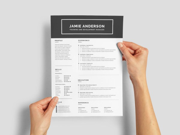 Free Training And Development Manager Resume Template for Job Seeker