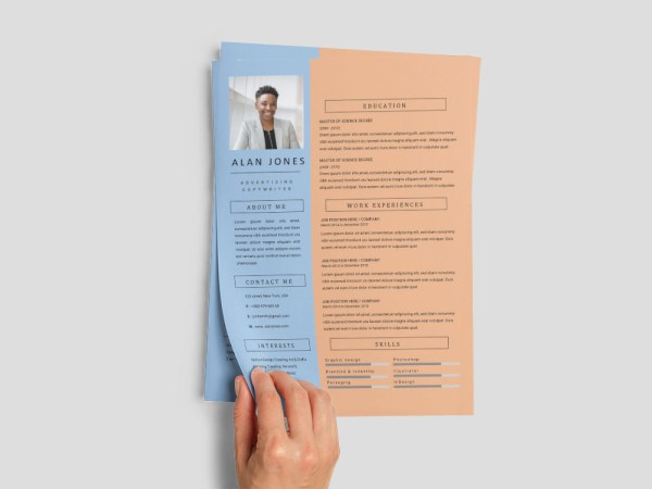 Free Advertising Copywriter Resume Template for with Professional Look