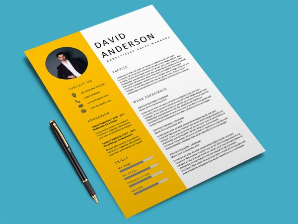 Free Advertising Sales Manager Resume Template for with Clean Look