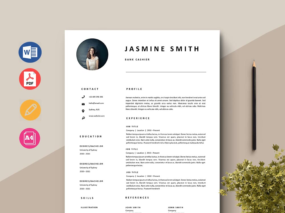 Free Bank Cashier Resume Template