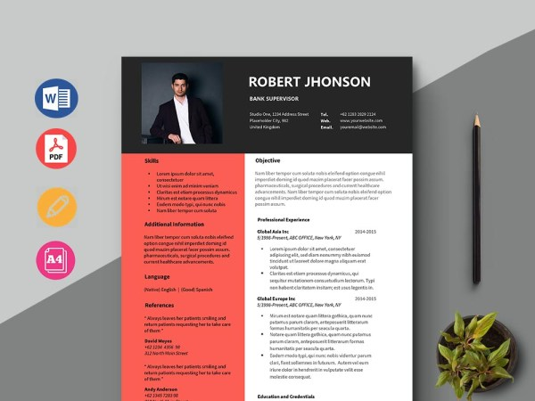 Free Bank Supervisor Resume Template