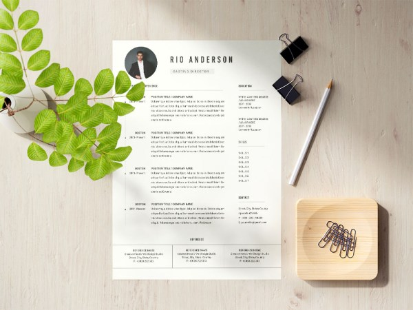 Free Casting Director Resume Template with Professional Look