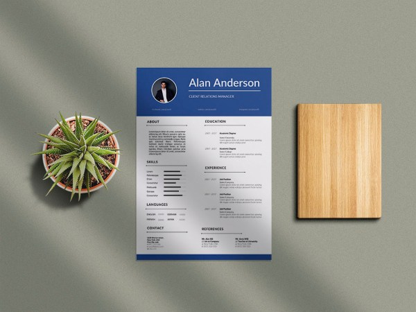 Free Client Relations Manager Resume Template with Clean Look