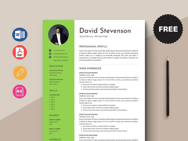 Free Electrical Estimator Resume Template