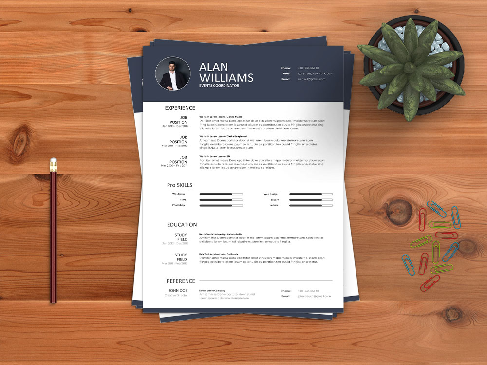 Free Events Coordinator Resume Template for Job Seeker