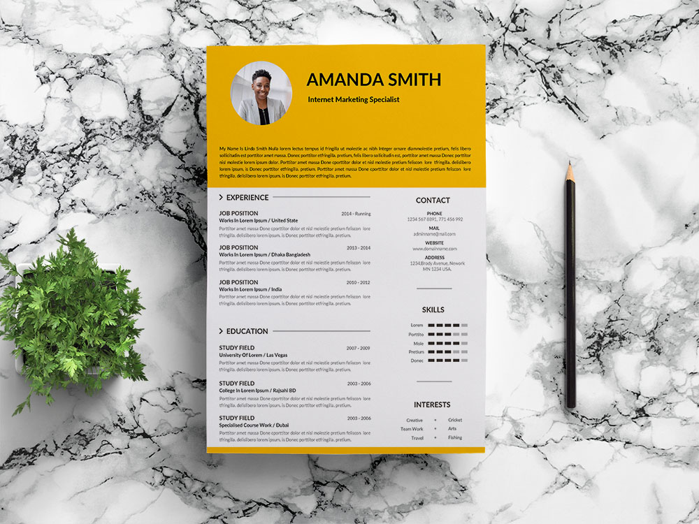 Free Internet Marketing Specialist Resume Template for Job Seeker
