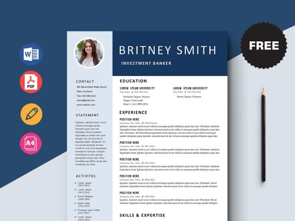 Free Investment Banker Resume Template