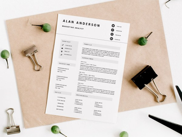 Free Marketing Analyst Resume Template with Professional Look
