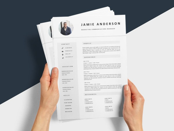 Free Marketing Communications Manager Resume Template with Professional Look