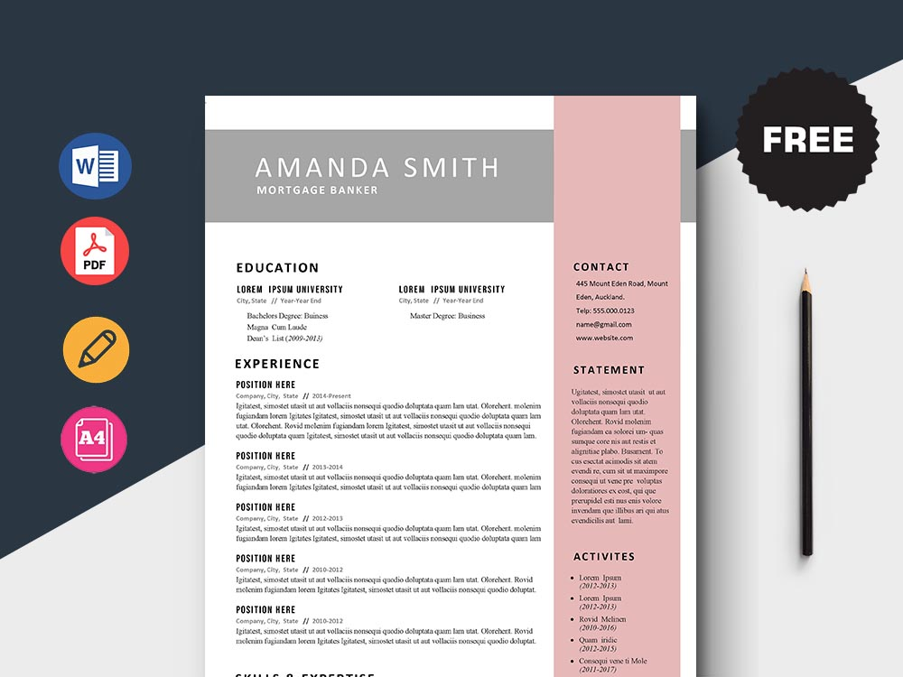 Free Mortgage Banker Resume Template