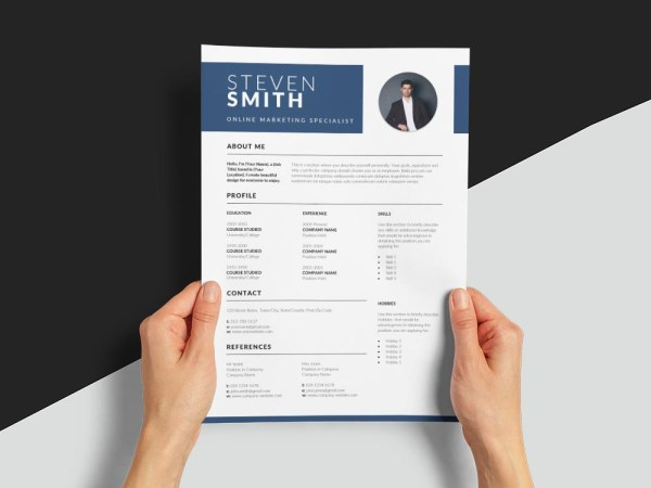Free Online Marketing Specialist Resume Template with Professional Look