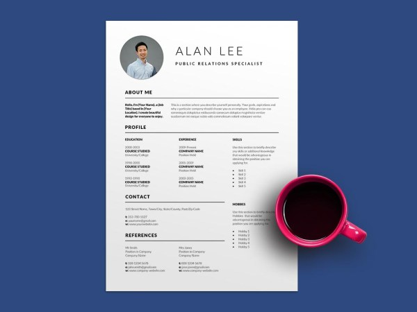 Free Public Relations Specialist Resume Template with Professional Look