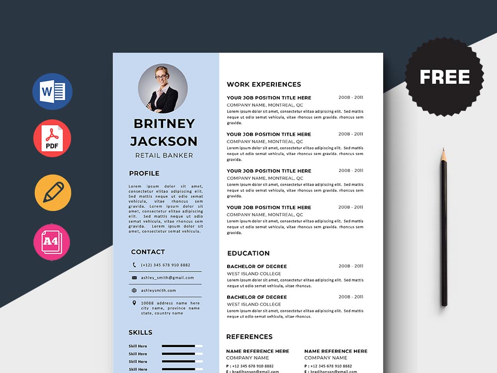 Free Retail Banker Resume Template
