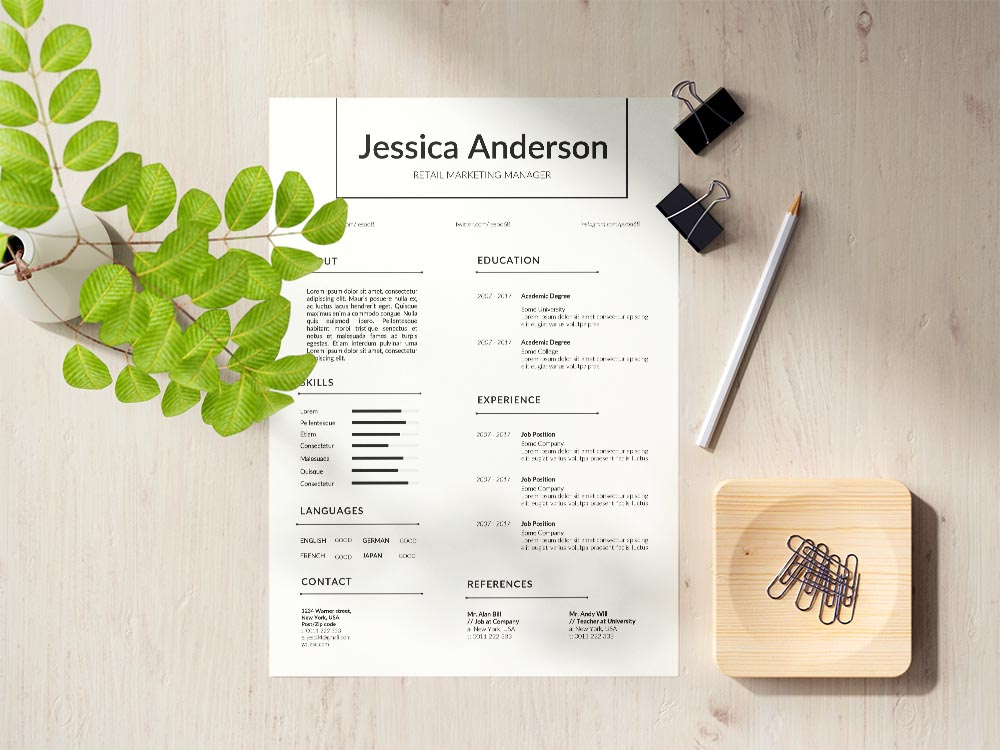 Free Retail Marketing Manager Resume Template with Professional Look