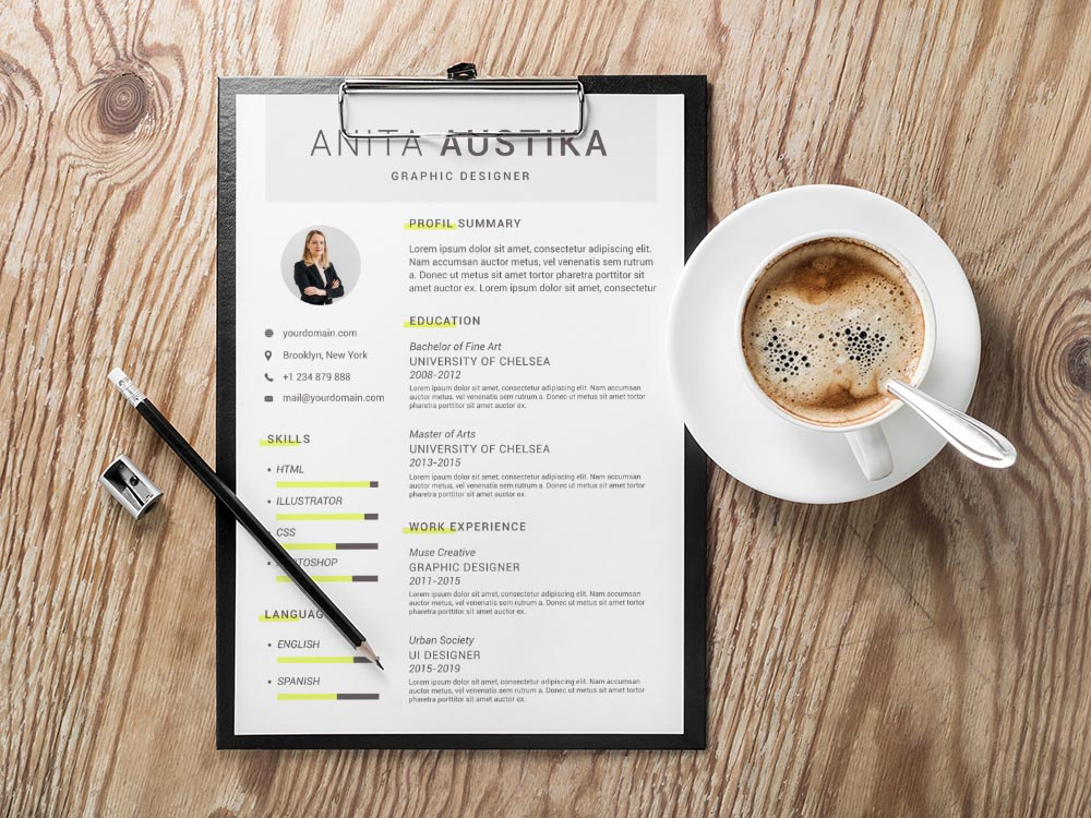 Free Simple Vector Resume Template for Any Job Seeker