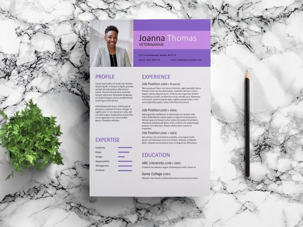 Free Veterinarian Resume Template with Modern and Clean Look