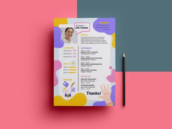 Free Kindergarten Teacher Resume Template