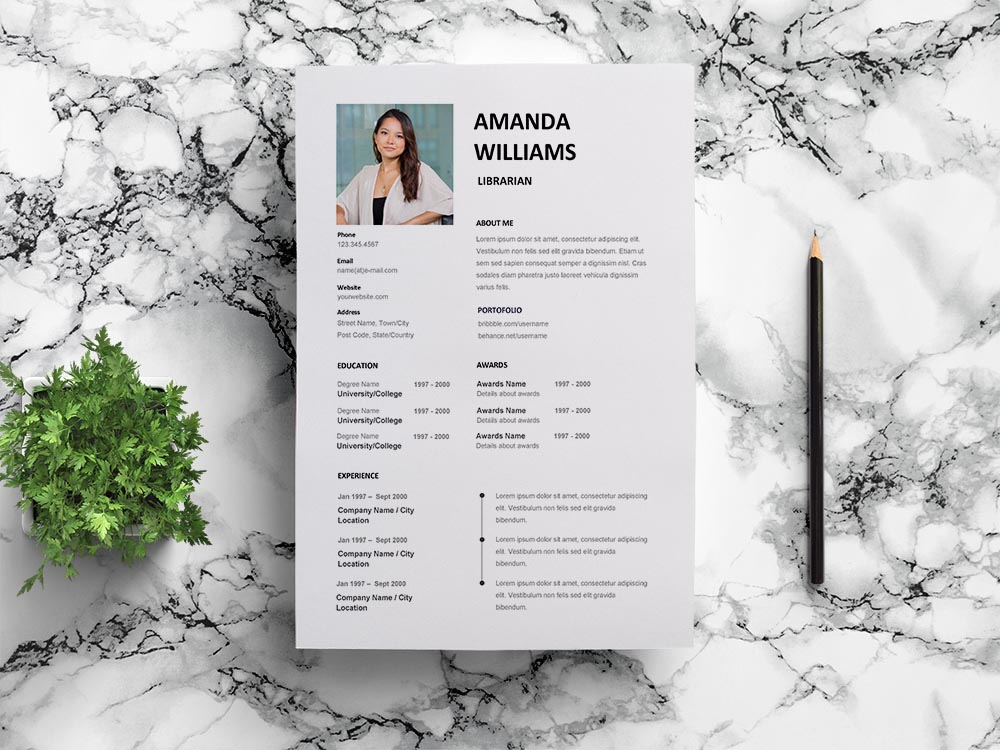 Free Librarian Resume Template