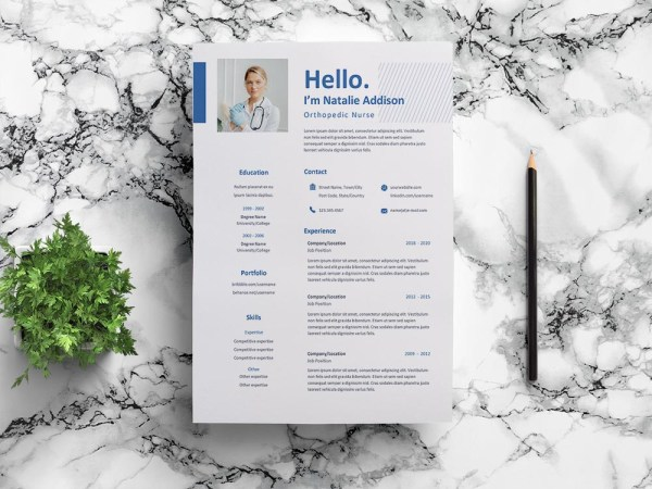 Free Orthopedic Nurse Resume Template