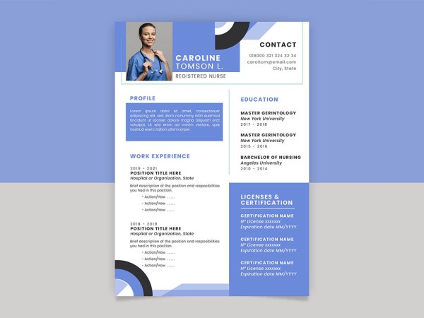 Free Registered Nurse CV Template
